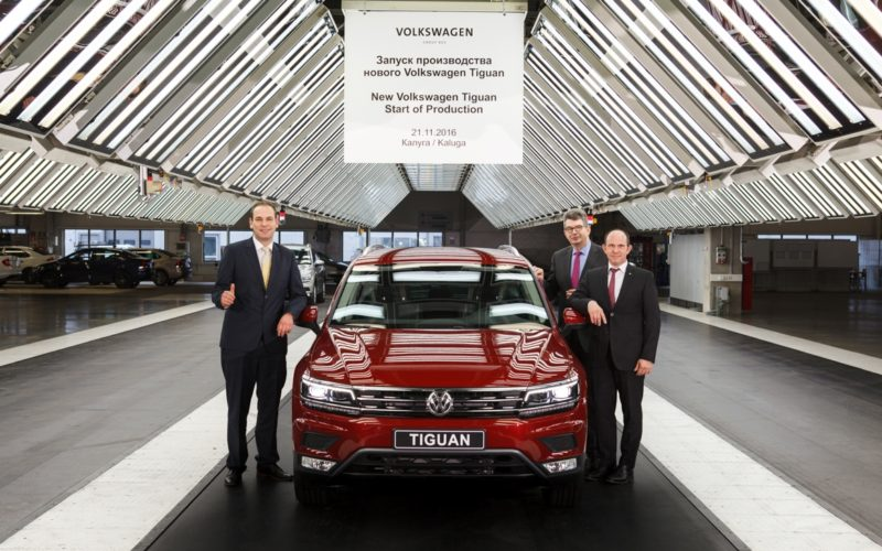 Kaluga plant of Volkswagen Group Rus has launched the full-cycle production of the new Tiguan