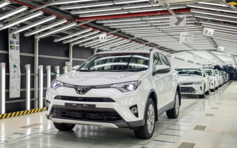St. Petersburg Toyota plant has increased production by 19% in 2016