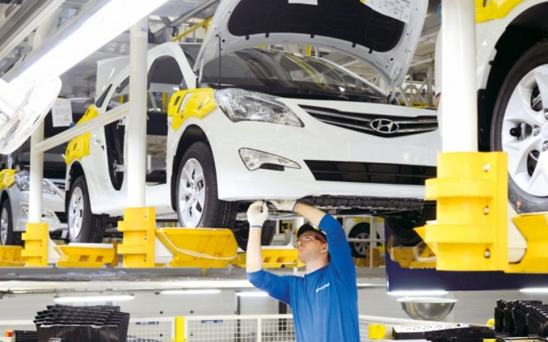 St. Petersburg car production has declined by 3% during the first quarter