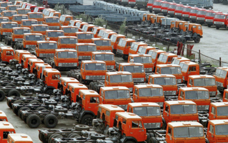 Truck imports to Russia fell by 10% in 2016