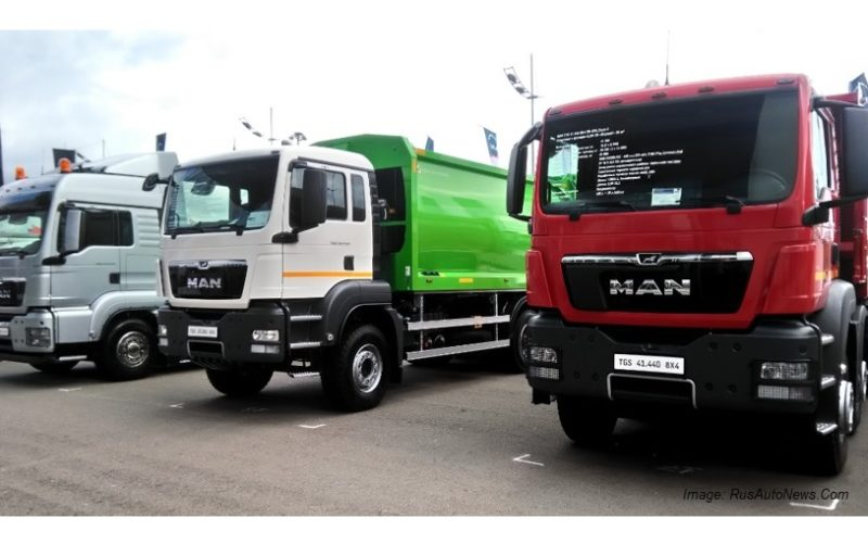 Russian truck market up by 65% in August 2017