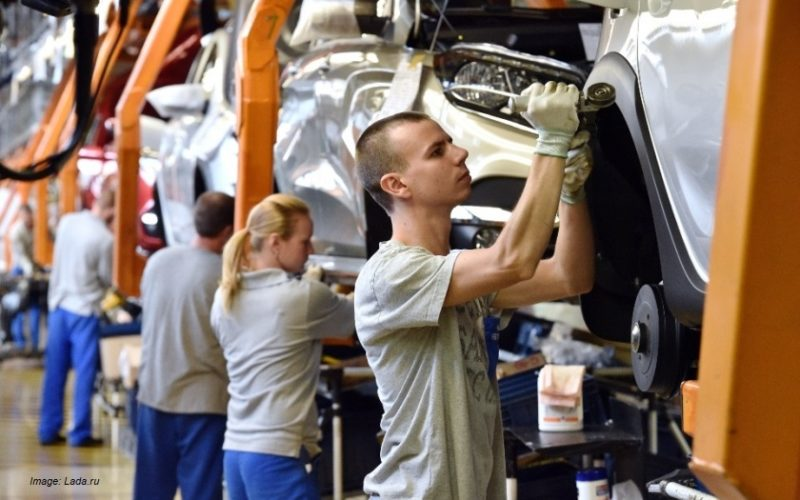 Car production in Russia up by 19% within the first eight months of 2017
