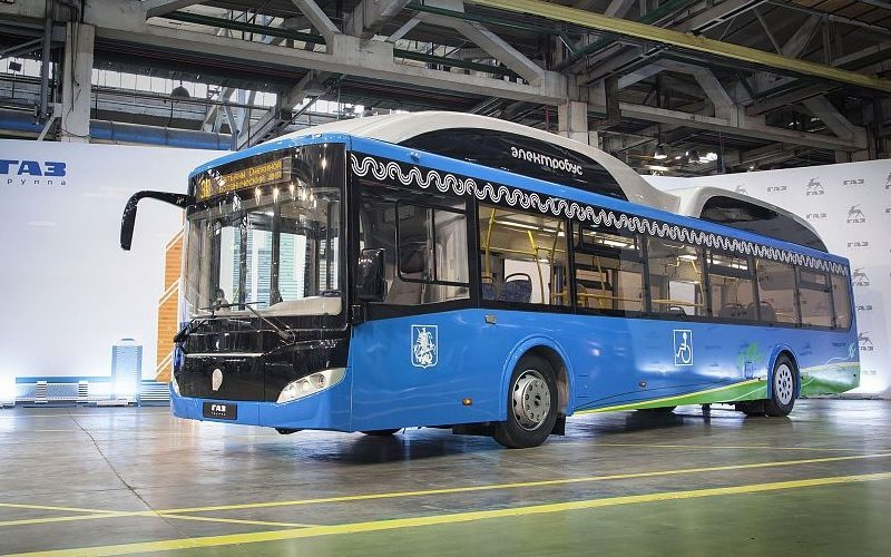 GAZ Group has presented a new electric bus to the Mayor of Moscow