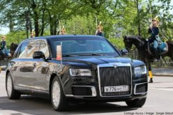 "Putin has arrived at his inauguration in a Russian made Limousine ""Cortege"""