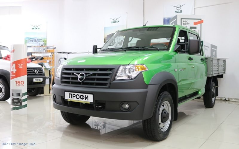UAZ has upgraded the Profi light trucks