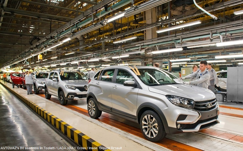 AVTOVAZ produces millionth car on its B0 assembly line