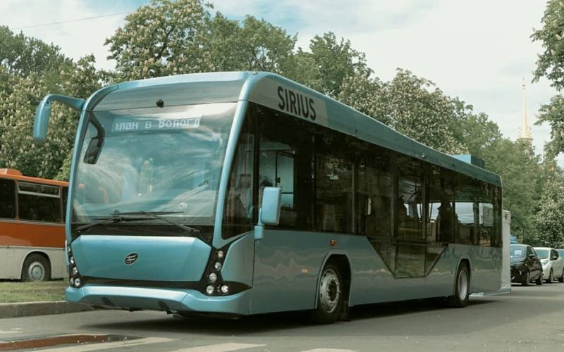 Urban electric buses from Vologda and Germany have arrived in St Petersburg