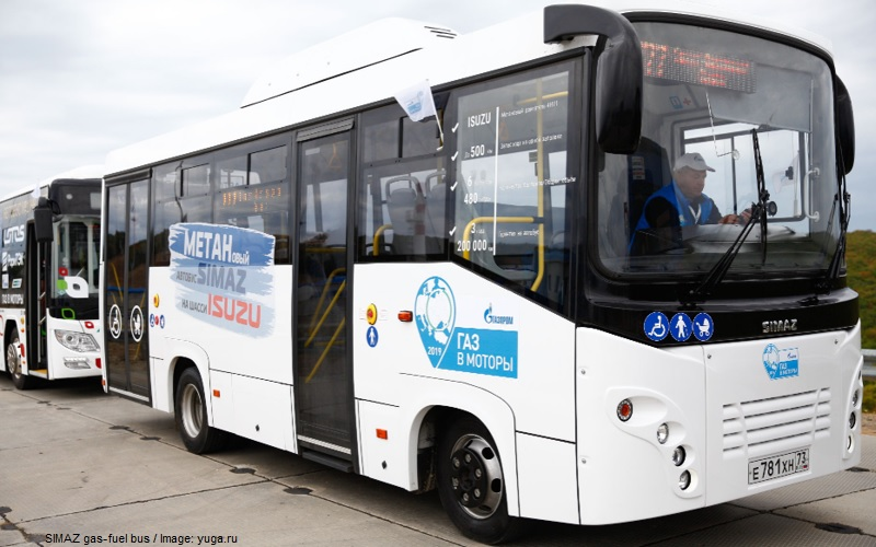 SIMAZ gas-fuel buses