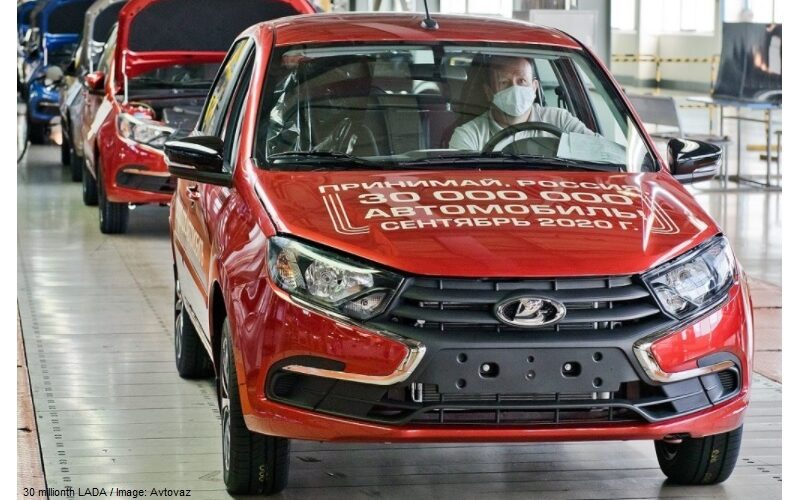 AVTOVAZ has manufactured the 30 millionth LADA automobile