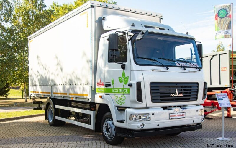 MAZ has manufactured its first electric truck