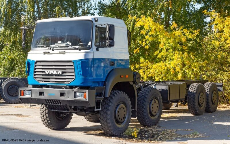 UralAZ has started the production of the new 8×8 Ural 9593 truck