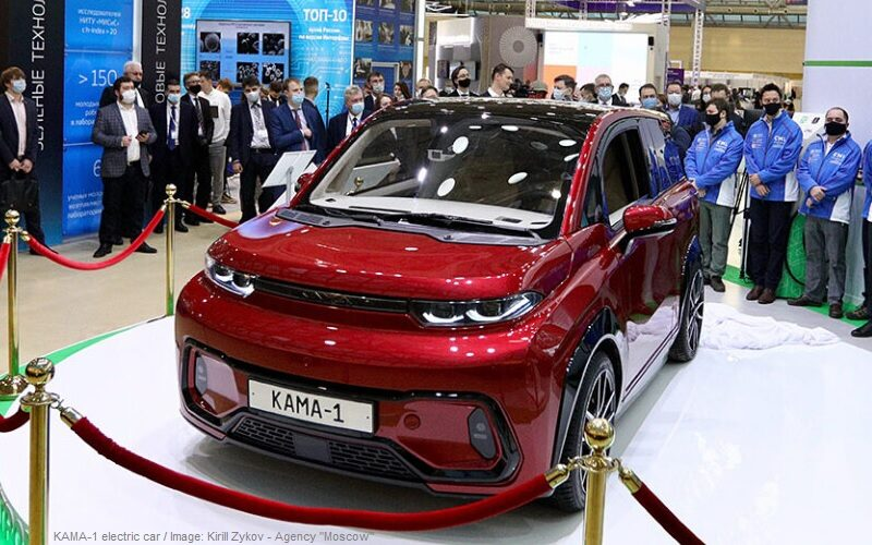 KAMA-1 electric car has been presented in Moscow