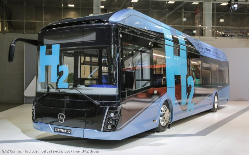 GAZ Group has presented hydrogen-fueled electric buses
