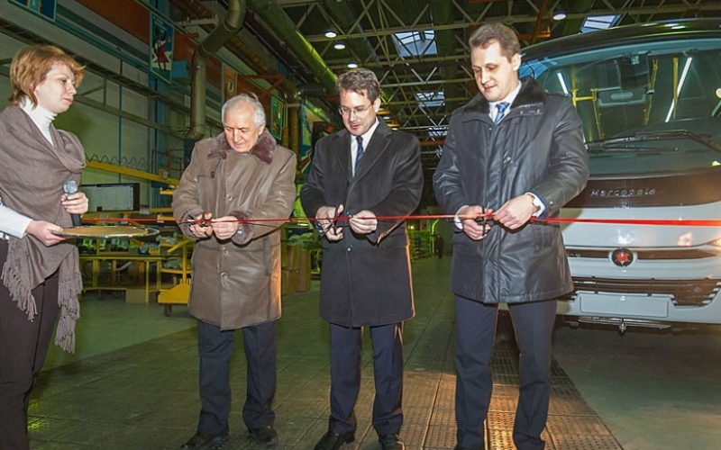 KAMAZ and Marcopolo started bus production in Neftekamsk