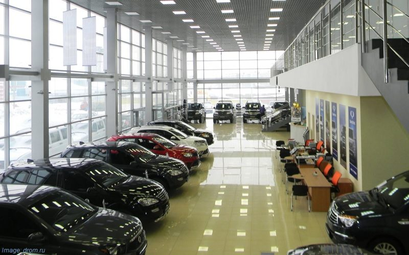 The number of official car dealer centers down by 74 centres in Russia