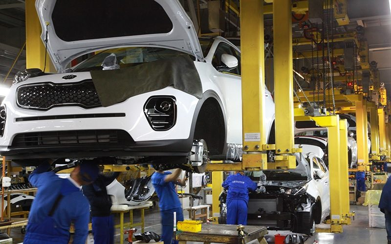 Car production in Russia has decreased by 16% in January 2020